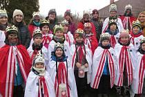 Tříkrálová sbírka 2020 - králové v Ústí.