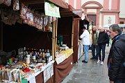 Podzimní farmářské trhy na Masarykově náměstí v Hranicích.