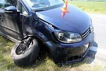 Nehoda volkswagenu u Slavíče