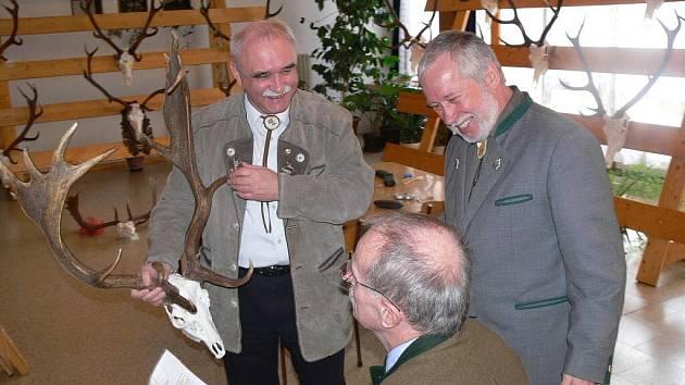 Výstava loveckých trofejí na Střední lesnické škole v Hranicích