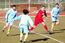 Muži 1. FC Přerov porazili FC Dolany 2:1 trefami Samohýla a Cigánka.