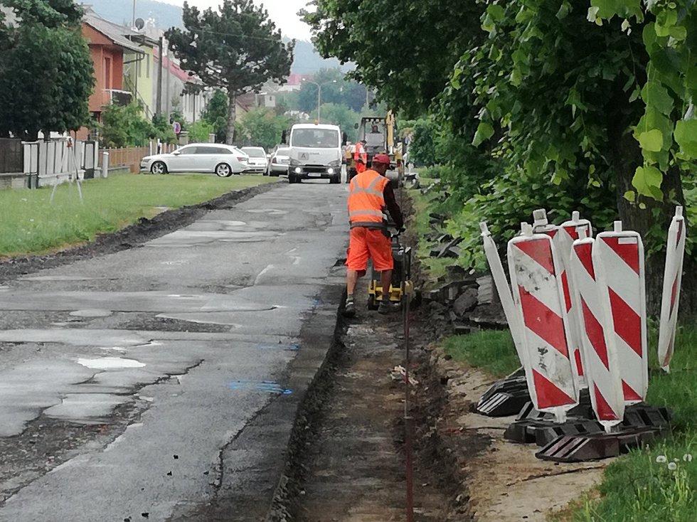 Práce na Tovačovského ulici by měly trvat do konce května.