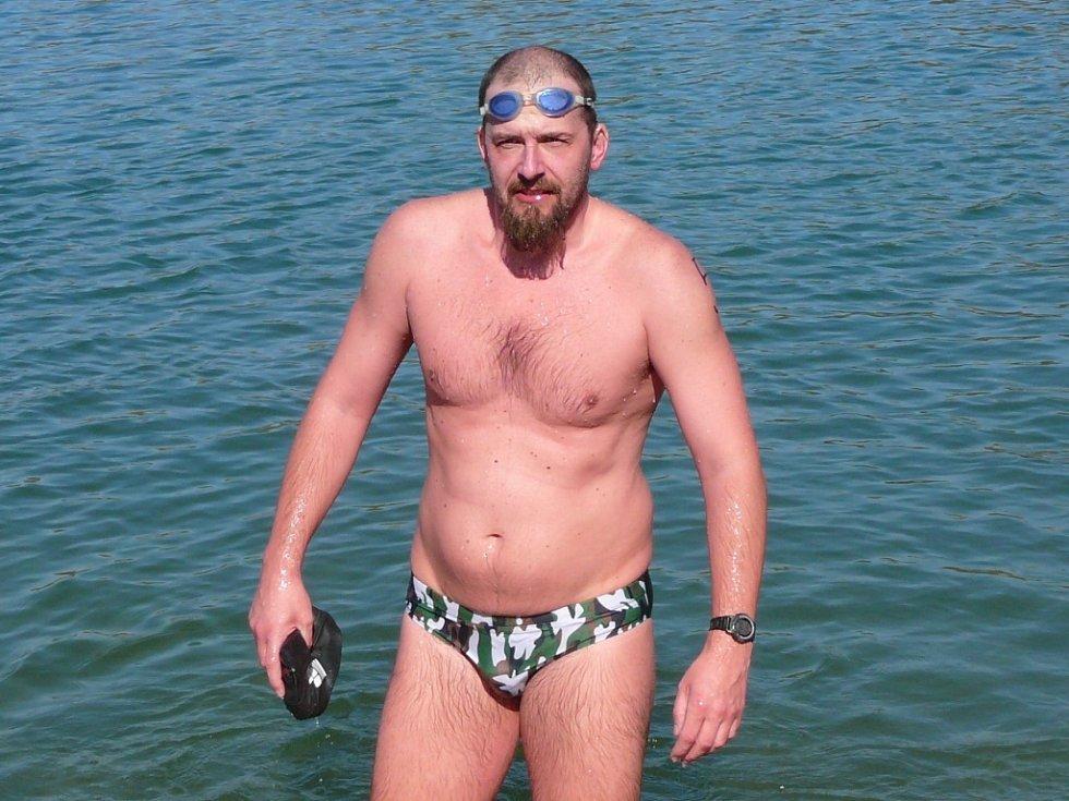 Vlastimil Zaoral st., trenér a aktivní závodník oddílu dálkového a zimního plavání Spartak Přerov.