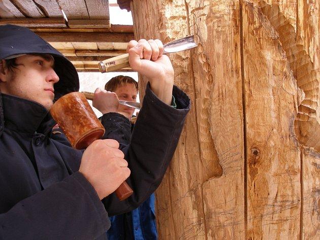 Studenti se již pustili do proměny stromu v umělecké dílo.