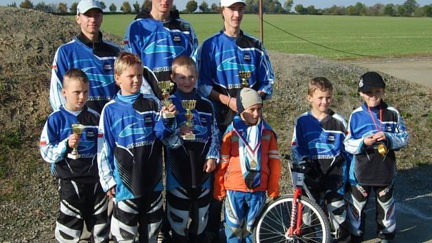 Úspěšný tým BMX Hranice.
