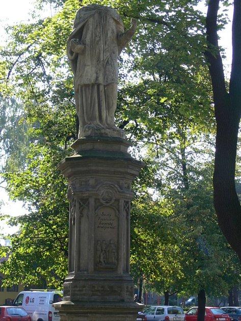 Socha sv. Františka Xaverského.