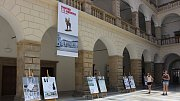 Výstava návrhů na památník T. G. Masaryka ve dvoraně hranického zámku