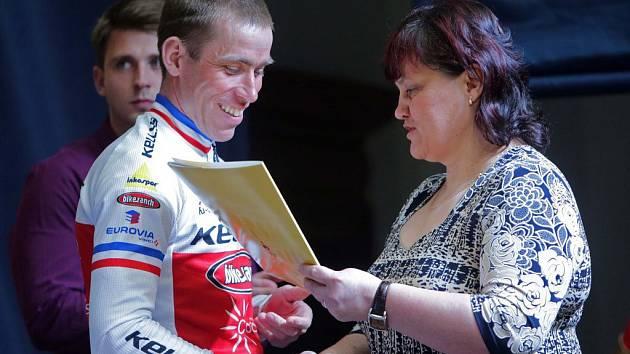 Karel Hartl. Vyhlášení nejúspěšnějších sportovců Hranic za rok 2014