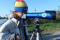 Na tři desítky lidí zamířily v sobotu dopoledne k Tovačovským jezerům, aby mohly pozorovat některé vzácné druhy ptáků.