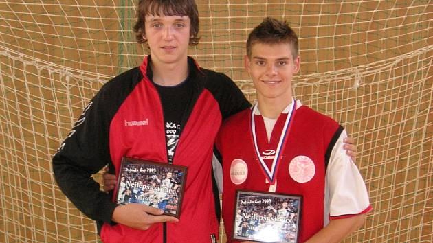 Nejlepší střelci turnaje: Tomáš Mráz - v kategorii starší žáci, Kleisl David - v kategorii ml. dorost.