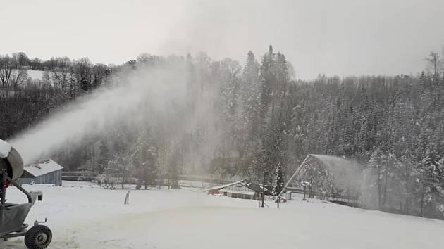První zkouška techniky proběhla ve Ski areálu Potštát hned začátkem prosince.