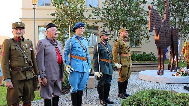 Slavnostní odhalení sochy Tomáše Garriqua Masaryka