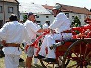 Radslavičtí hasiči při oslavách Cyrilometodějských slavností.