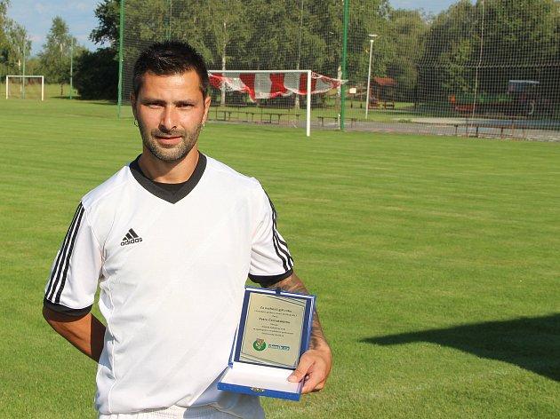 Autor nejhezčího gólu jara krajského přeboru 2016/2017 Petr Černotský z Ústí.