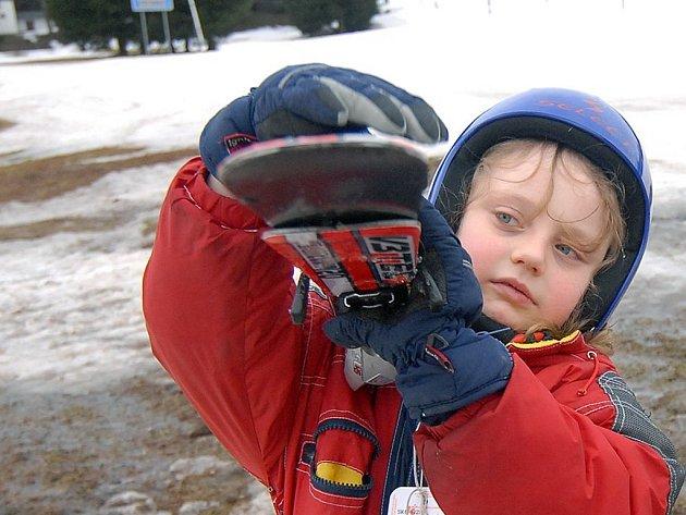 Děti se budou učit lyžovat na Potštátě.