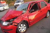 Třiaosmdesátiletý řidič fabie nedal na Přerovsku přednost nákladní tatře. Naštěstí se ale nehoda obešla bez zranění.