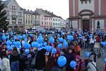 Hranické náměstí se hemžilo balonky, šlo totiž o český rekord.
