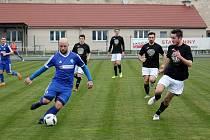Fotbalisté Tatranu Všechovice v úvodním jarním utkání v Zábřehu