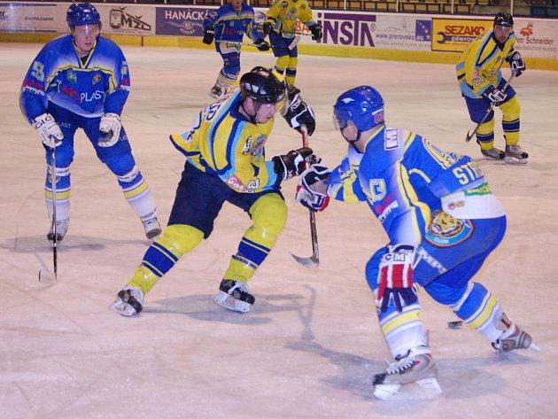 Přerovští hokejisté doma podlehli hráčům Břeclavi.