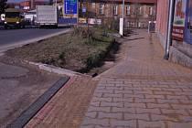 Nový chodník v ulici 28. října v Hranicích