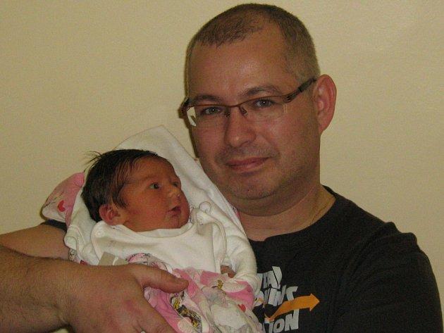 Nela Rabelová, narozena 12. 1. 2008 v Olomouci, váha 3470 g, Hranice