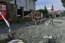 Oprava Skalní ulice v Hranicích