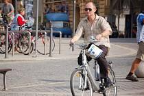 Přerované si mohli v pondělí 21. září dopoledne vyzkoušet jízdu na elektrokole a dalších ekologických dopravních prostředcích.