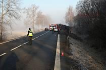 Nehoda u Hustopečí nad Bečvou zablokovala dopravu mezi Valašským Meziříčím a Hranicemi