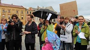 Demonstrace za nezávislost justice v Hranicích