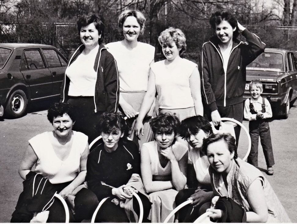 Na snímcích je spartakiáda z roku 1980, a to Okresní spartakiáda Přerov – cvičenky z oddílu Všechovice, Paršovice a Rakov a pak z Prahy v roce 1985 – cvičenky oddílu Všechovice.