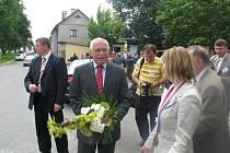 Návštěva prezidenta Václava Klause v Hustopečích nad Bečvou