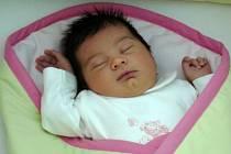 Kateřina Hýzlová, narozena 21. května v Přerově, míra 53 cm, váha 3 420 g