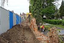 Rekonstrukce ohradní zídky u městského hřbitova v Přerově