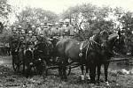 Počátek působení Sboru dobrovolných hasičů Veselíčko lze datovat do roku 1914, kdy se uskutečnila v Hostinci U Braunerů ustavující schůze, která definitivně potvrdila vznik sboru. Na dobové fotografii jsou zachyceni veselíčští hasiči s koňskou stříkačkou.