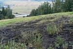 Požár mezi lesy u Uhřínova