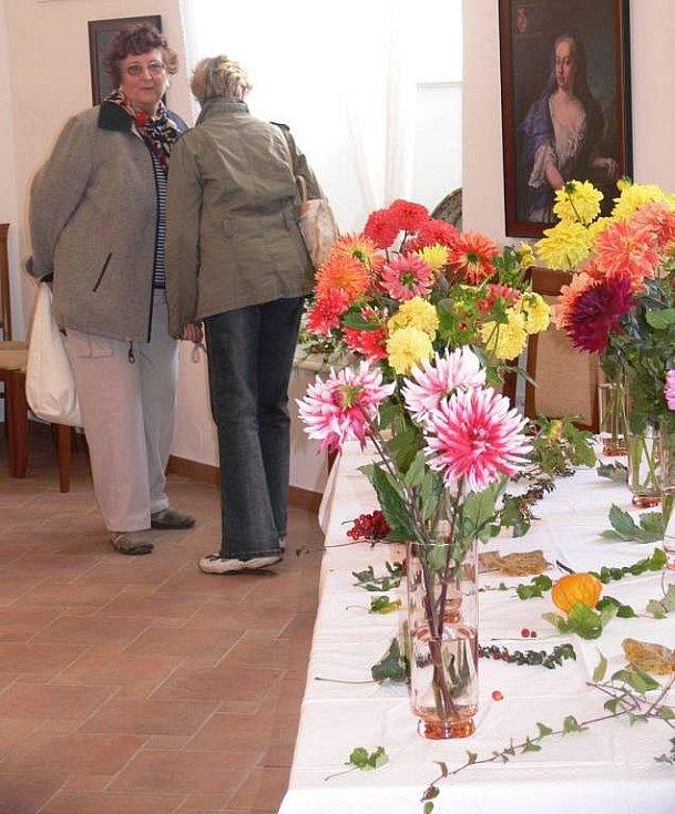 Výstava jiřin v hustopečském zámku