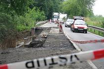 Oprava silnice mezi Teplicemi nad Bečvou a Opatovicemi