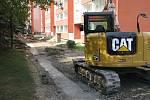 Opravy na Nové ulici v Hranicích