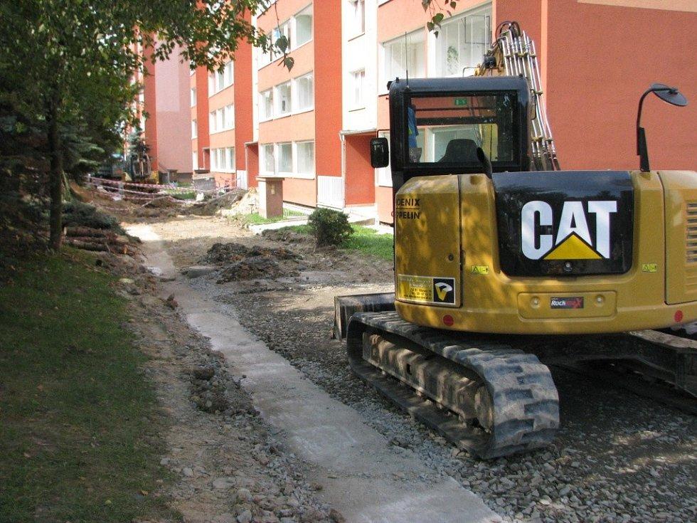 Průběh první etapy revitalizace na sídlišti Nová v Hranicích