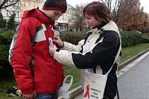 S osvětovou kampaní a sbírkou pomáhali v Prostějově hlavně studenti.