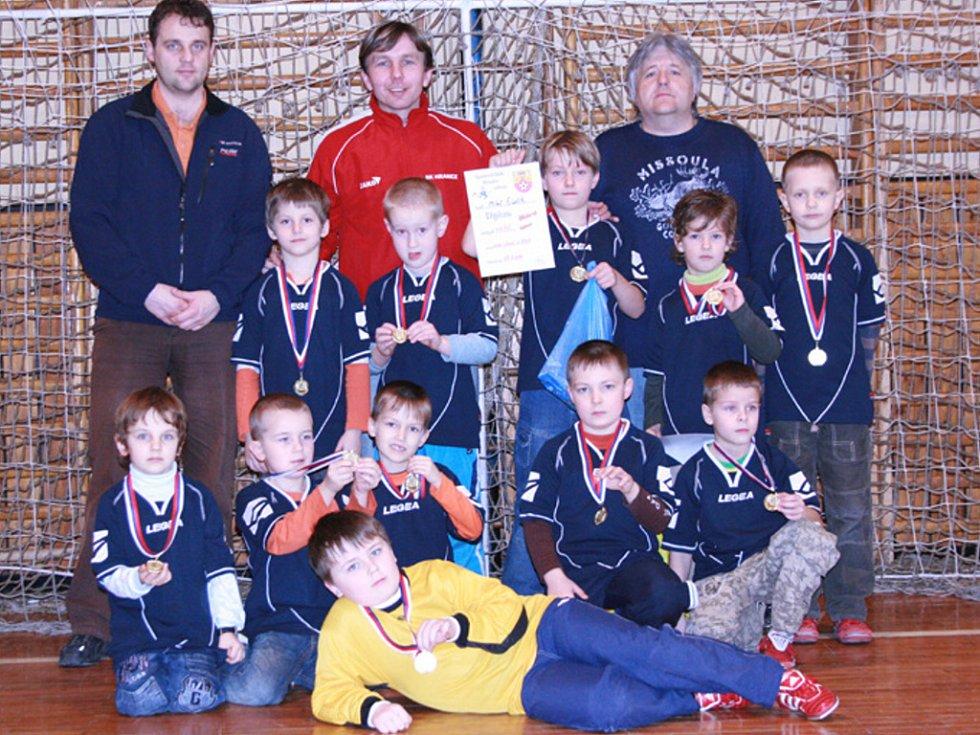Mladší přípravka SK Hranice zvítězila na domácím turnaji.