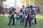 Vojska z časů napoleonských válek na zámku v Dřevohosticích
