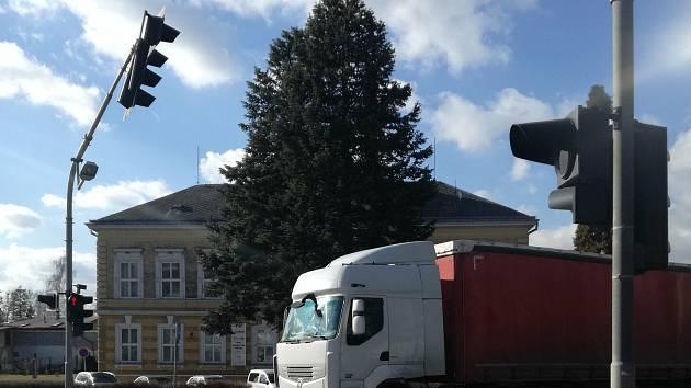 Semafory na Motošíně. Ilustrační foto