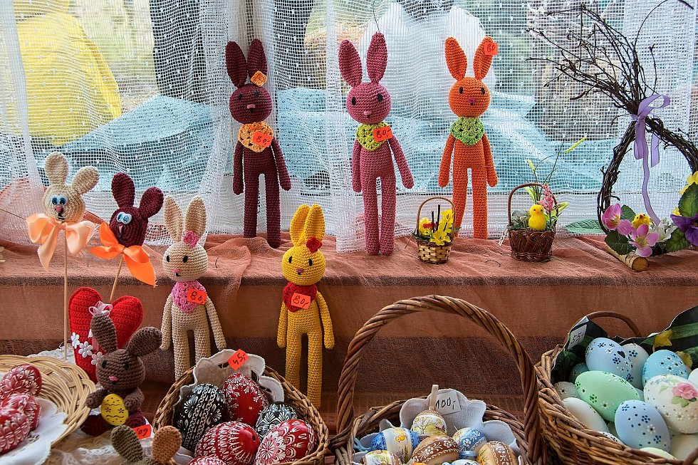 Velikonoční výstava v Galerii M+M v Hranicích, březen 2021.