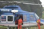 Nácvik záchranářské akce u hranické propasti zaměstnal desítky lidí z různých koutů republiky.