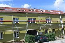 Stavba azylového centra v Drahotuších