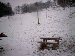 Tak to vypadalo v lyžařském areálu na Potštátě v neděli 4. ledna v 10.45 hodin.