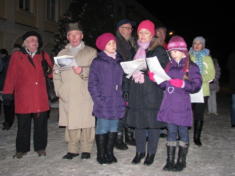 Zpívání vánočních koled v Drahotuších