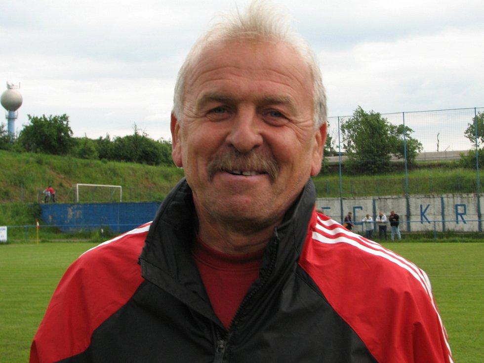 Trenér kralických fotbalistů Zdeněk Chytka.