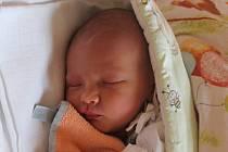 Jan Jordán, Střítež nad Ludinou, narozen dne 20. srpna 2013 v Novém Jičíně, míra: 52 cm, váha: 3500 g